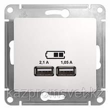 "USB розетка - 2х5В 1050мА скрытой уст без рамки ""GLOSSA"" GSL133"