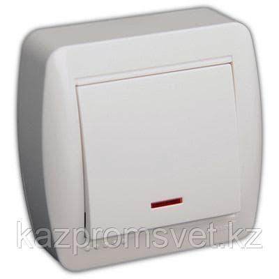 L22Выкл 1кл.с инд. о/у белый Demet  711-0200-111