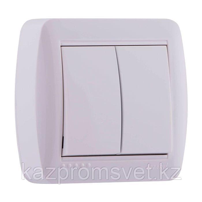 L21Выкл  2кл. о/у белый Demet  711-0200-101