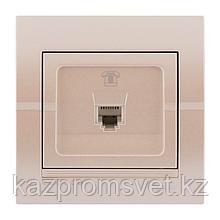702-3030-137 Розетка телефонная скрытой установки Deriy