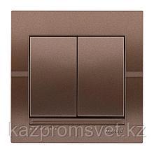 702-3131-101 Выключатель 2клавишный скрытой установки Deriy