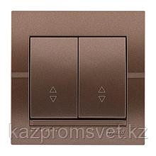 702-3131-106 Выключатель 2клавишный проходной Deriy