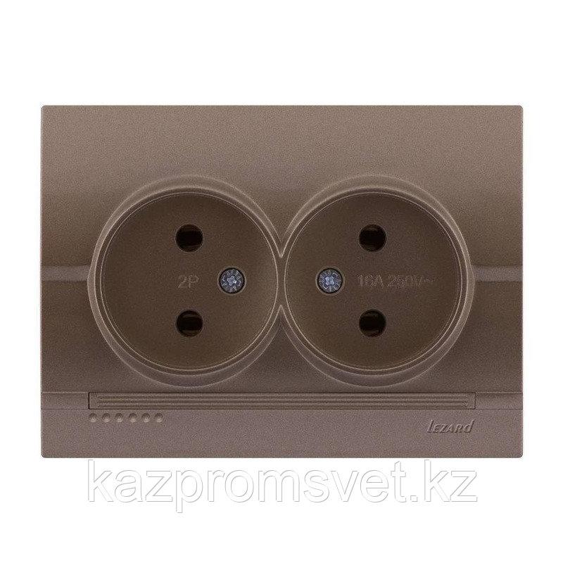 702-3131-128 Розетка двойная скрытой установки Deriy