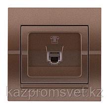 702-3131-137 Розетка телефонная скрытой установки Deriy