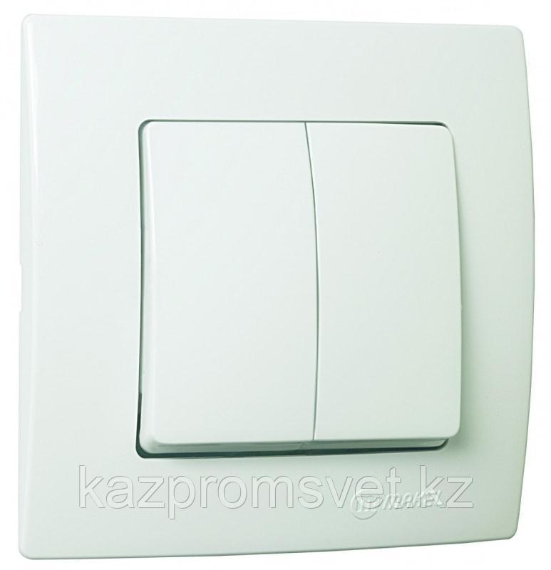 М75Выкл.2кл.с/у белый LILLIUM KARE  32001003