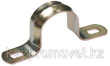 Скоба метал. 2-лапковая d 25-26мм (для металорукава d-20,22)