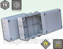 KSC 11-308(140х190x55 коробка распаячн. о/п с сальниками)IP65
