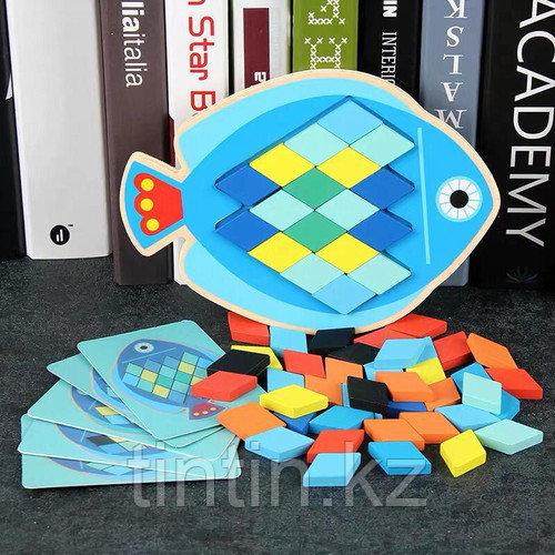 Деревянная мозаика - Рыбка