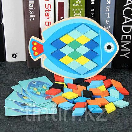 Деревянная мозаика - Рыбка, фото 2