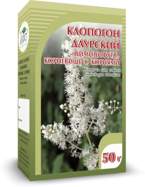 Клопогон даурский (цимицифуга), корневище с корнями, 50гр
