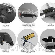 Багажные поперечины для интегрированных рейлингов Turtle AIR2 106 см. черные, фото 3