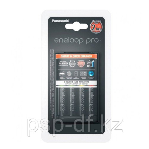 ЗУ Panasonic Smart & Quick (K-KJ55HCD40E) на 4 аккумулятора + 4шт Eneloop Pro АА 2500 mAh