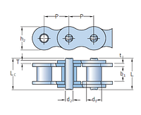 PHC 12B-2X10FT Цепи роликовые SKF