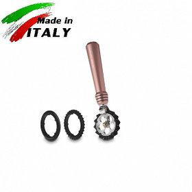 Ручная лапшерезка - фигурный нож для теста, лапши, пасты Marcato Design Pastawheel Rosa, розовый
