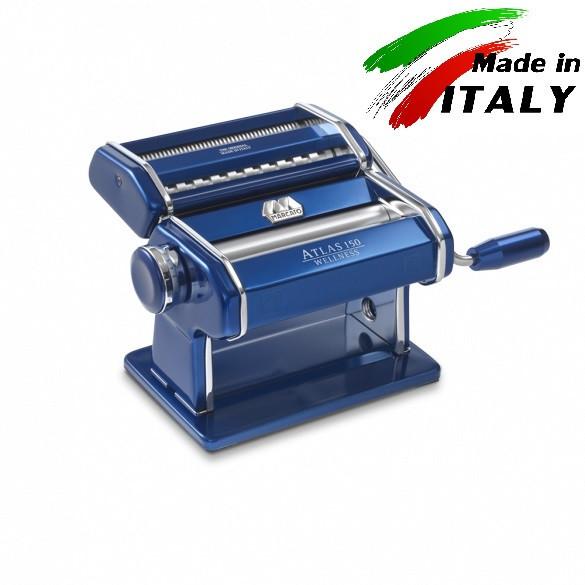 Оптом Marcato Design Atlas 150 Color Blu механическая тестораскатка - лапшерезка с насадкой для резки лапши