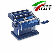 Оптом Marcato Design Atlas 150 Color Blu механическая тестораскатка - лапшерезка с насадкой для резки лапши, фото 1