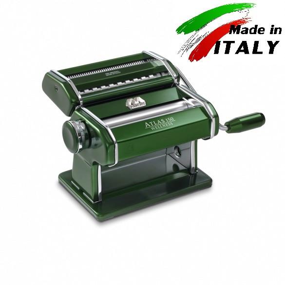Оптом Marcato Design Atlas 150 Color Verde ручная тестораскаточная машина - лапшерезка с насадкой для спагетти