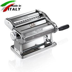 Marcato Classic Atlas 180mm ручная тестораскаточная машина-лапшерезка с насадкой для нарезки лапши