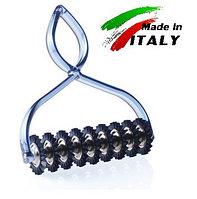 Нож - лапшерезка для нарезки теста на лапшу и пасту Marcato Classic Pastabike Blu, синий