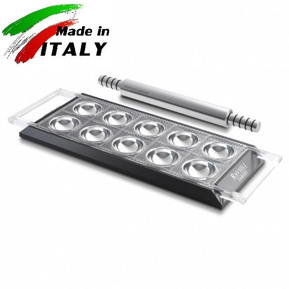 Пельменница - равиольница Marcato Design Ravioli Tablet Nero форма для приготовления пельменей равиоли, черная