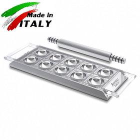 Пельменница равиольница Marcato Design Ravioli Tablet Argento форма для приготовления пельменей равиоли, серые