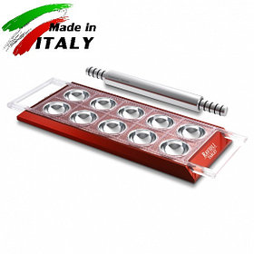 Пельменница - равиольница Marcato Design Ravioli Tablet Rosso форма для лепки пельменей равиоли, красная