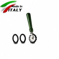 Ручная лапшерезка - фигурный нож для теста, лапши, пасты Marcato Design Pastawheel Verde, зеленый, фото 1