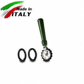 Ручная лапшерезка - фигурный нож для теста, лапши, пасты Marcato Design Pastawheel Verde, зеленый