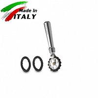 Ручная лапшерезка - фигурный нож для теста, лапши, пасты Marcato Design Pastawheel Argento, серебряный