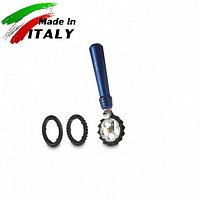 Ручная лапшерезка - фигурный нож для теста, лапши, пасты Marcato Design Pastawheel Blu, синий