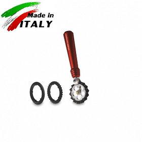 Ручная лапшерезка - фигурный нож для теста, лапши, пасты Marcato Design Pastawheel Rosso, красный