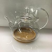 Заварочный чайник с подставкой. Жаропрочное стекло.Объём 800 мл, фото 1