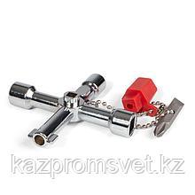 Ключ для электрошкафов с 5 профилями и битой «крест/шлиц»