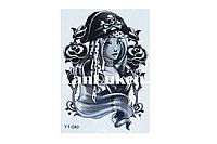 Временное тату Temporary девушка пират 175x125mm Y1-040, фото 1