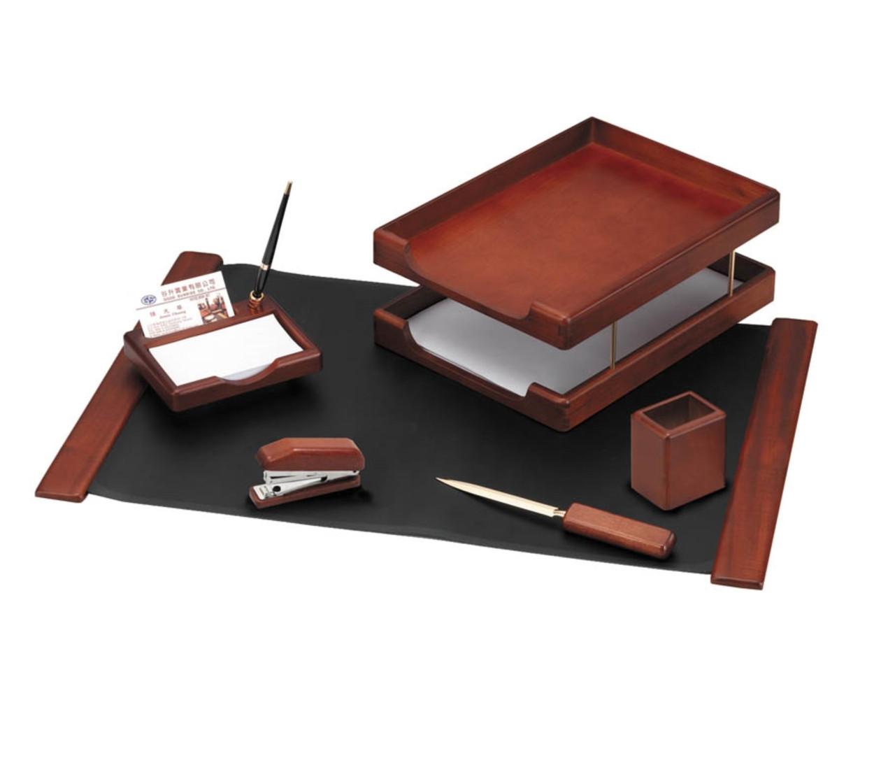 Набор настольный Delucci 6 предметов, темно-коричневый орех