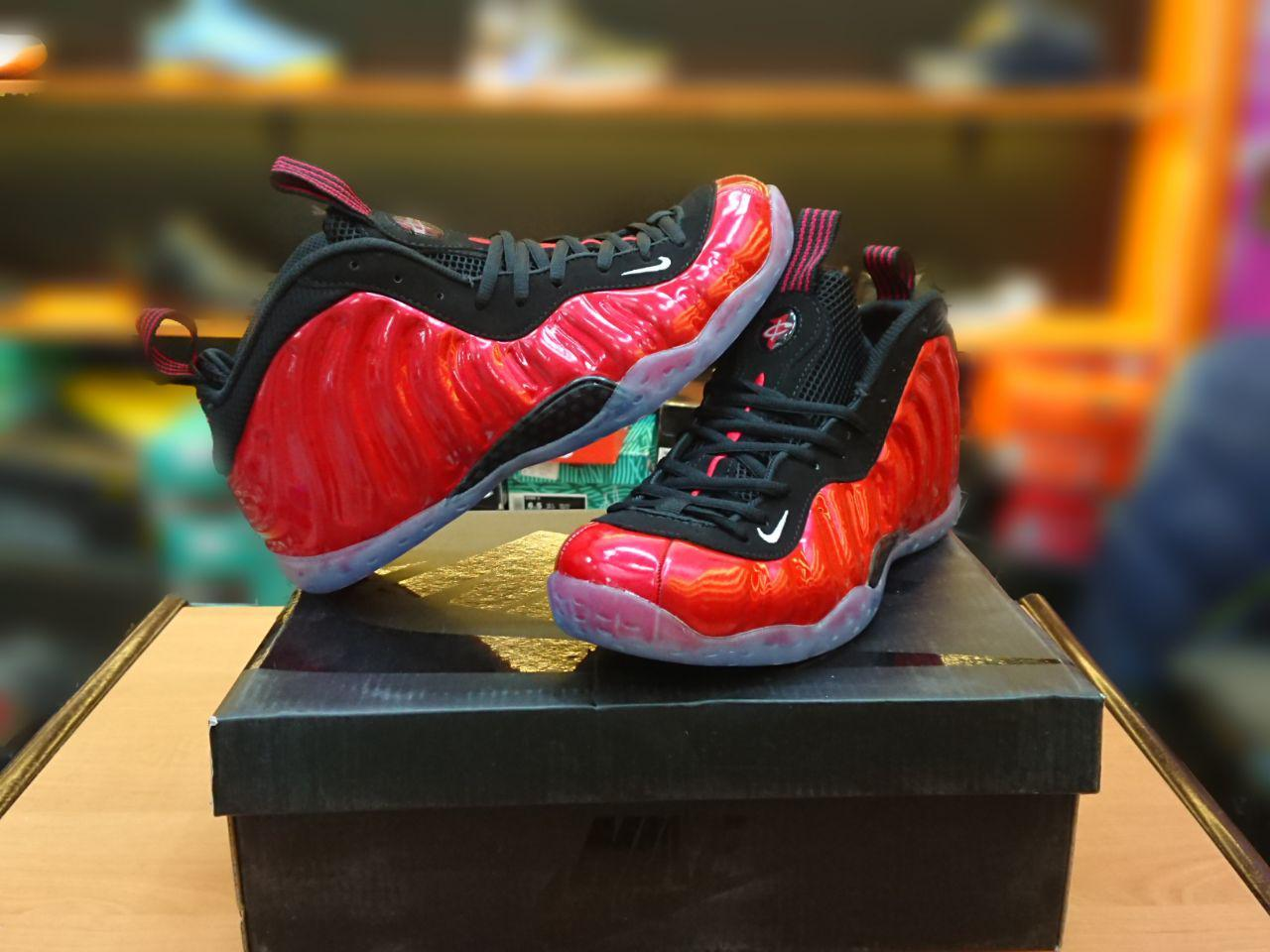 """Баскетбольные кроссовки Nike Foamposite One Pro """"Red"""" размер 45 в наличии"""