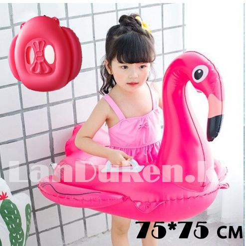 """Надувной круг """"Фламинго"""" с ручками  75*75 см"""