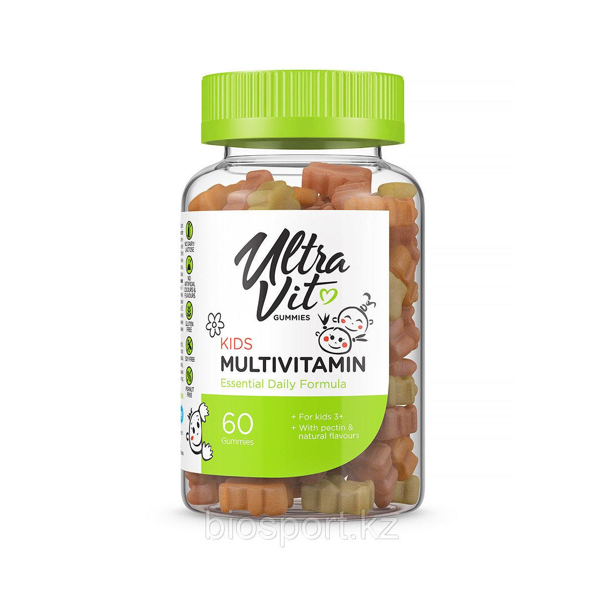 Gummies Kids Multivitamin, 60 конфет, UltraVit.