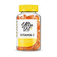 Витамин  C, 60 жевательных конфет, UltraVit.