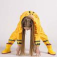 Дождевик  детский жёлтый жирафик, фото 5