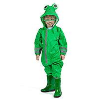 Дождевик детский зелёный лягушонок