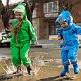 Дождевик детский  зелёный лягушонок, фото 7