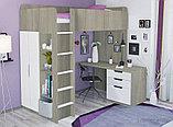 Кровать - чердак Polini Simple с письменным столом и шкафом, цвет белый 00-72568, фото 5
