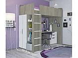 Кровать - чердак Polini Simple с письменным столом и шкафом, цвет белый 00-72568, фото 6