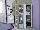 Кровать - чердак Polini Simple с письменным столом и шкафом, цвет белый 00-72568, фото 8