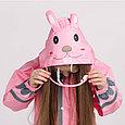 Дождевик  детский розовый кролик, фото 4