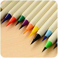 Ручка-кисточка акварельная художественная  (для каллиграфии) штучные фиолетовый