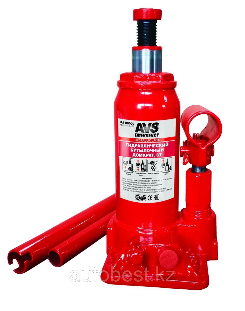 Домкрат гидравлический AVS HJ-B6000, 6т, 200-405мм.