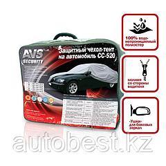 Защитный чехол-тент на автомобиль AVS CC-520 «М» 432*165*119 cм (водонепроницаемый)