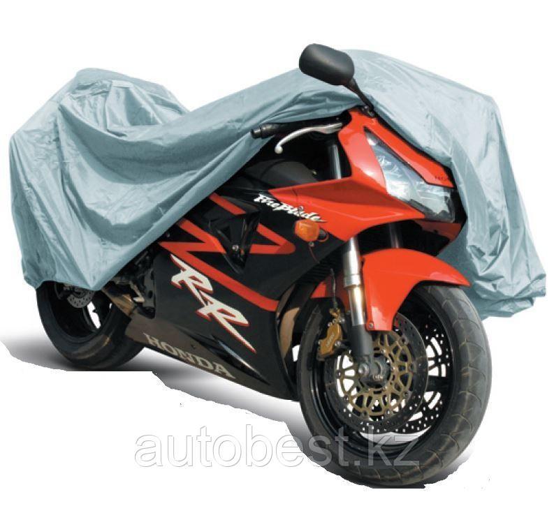 Защитный чехол-тент на мотоцикл AVS МС-520  «L» 229х99х125см (водонепроницаемый)